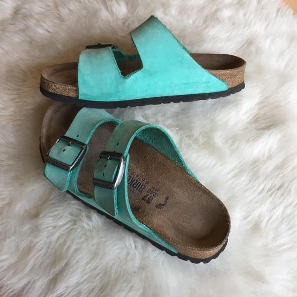 5bd0a094341d Birkenstock Shoes - Turquoise Birkenstock Arizona 37
